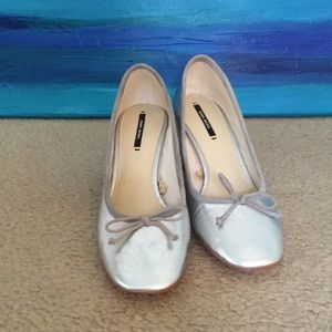 Zara Basic Silver Heels